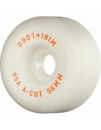 Ruedas Skateboard Mini Logo A-cut 56mm 95A Blancas (set 4)