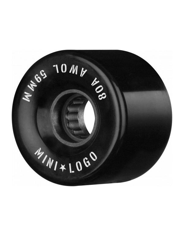 Mini Logo AWOL A CUT 59mm 80a negras (set 4)